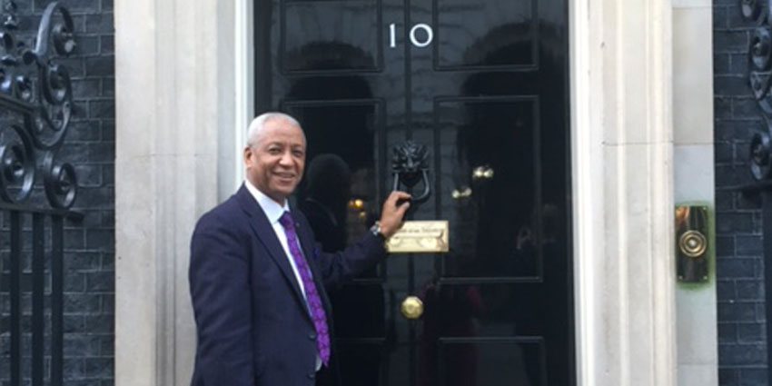 Wade Lyn Visits 10 Downing Street Enterprise Nation | Island Delight