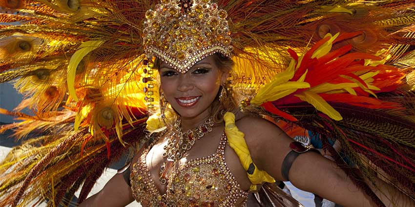 Woman in Carnival Dress
