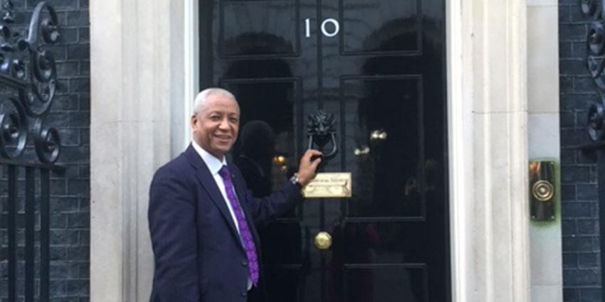 Wade Lyn Visits 10 Downing Street Enterprise Nation   Island Delight