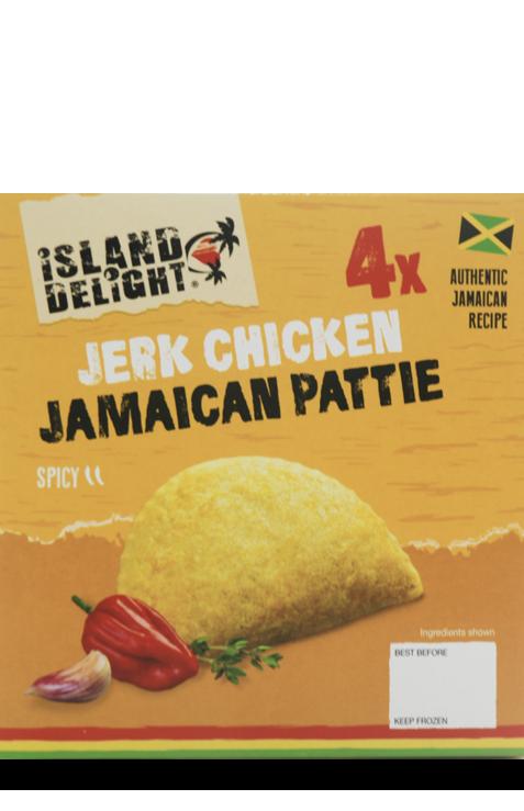Jerk Chicken Jamaican Pattie