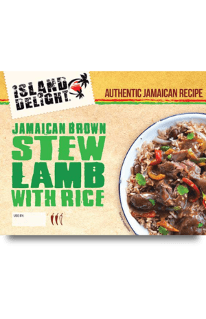 Jamaican Brown Stew Lamb with rice