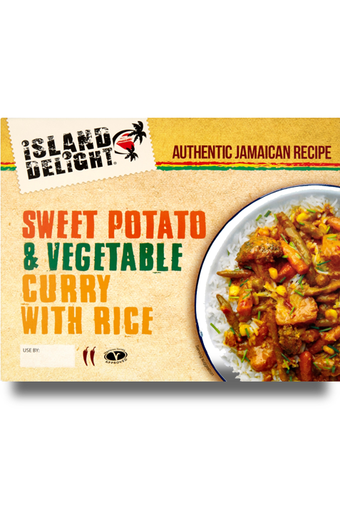 Sweet potato and vegetable curry with rice